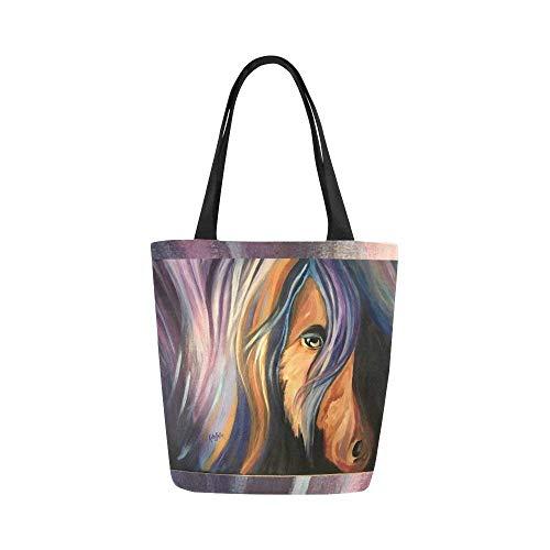 - Tote Bag Canvas Shoulder Bag Horse Lover for Women Girls