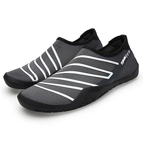 Antideslizante 2 Zapatos Cuatro Suela Zapatos Zapatos Fluorescentes Pareja En Y Superior De Sandalias Parte Suave Snorkeling Goma Natación Con Unisex Rayas De De Caras Descalzo De Transpirable Plegable gzpPwgxZ