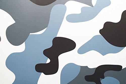 Rwraps Camouflage Vinyl Film Sheet Wrap Roll - Arctic Camo 24