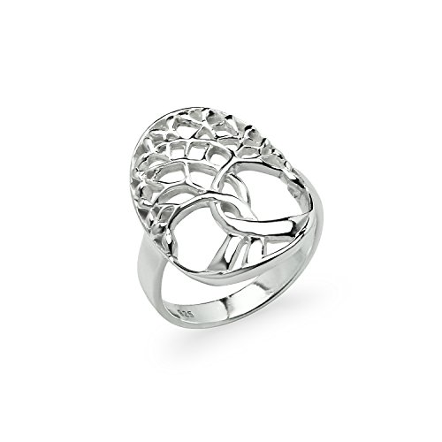 925 Sterling Silver Fashion Branches Tree of Life Band Ring in sizes 5 6 7 8 9 10 11 12 13 14 Size 8