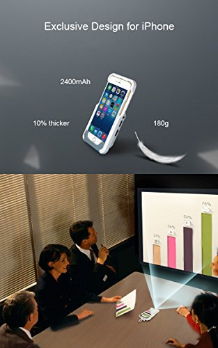 Daeon portable mini video projector for iphone 7 6 6s for Movie projector for iphone 6