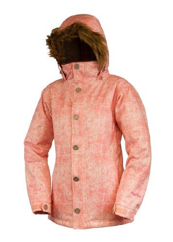 Betty Rides Women's Acid Wash Ava Parka Snowboard/Ski Jacket (Acid Peach, Small)