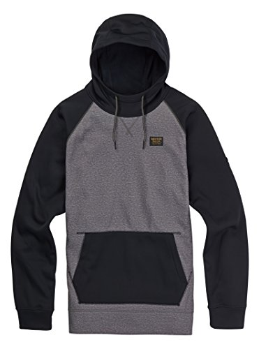 Burton Crown Bonded Pullover Hoodie, Monument Heather, (Bonded Fleece Pullover)