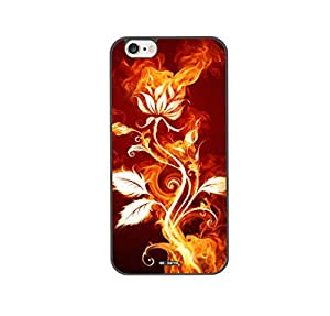 DH-hoping (TM) cell phone case for Iphone 6 plus 5.5 High Impackt Combo Soft Silicon Rubber Hybrid Hard Pc & Metal Aluminum Protective Case with Colorful ink Luxurious Pattern(Black)