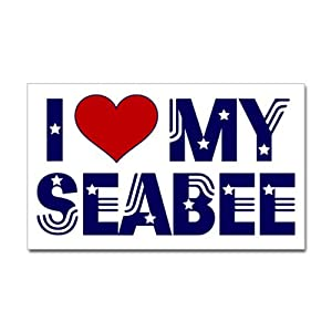 CafePress I love (heart) my Seabee Rectangle Bumper Sticker from CafePress