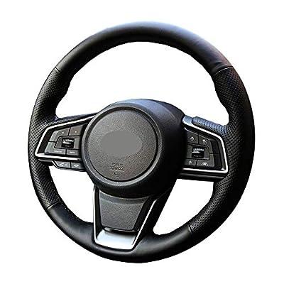 DIY Sew Black Microfiber Leather Car Steering Wheel Cover for Subaru 2020 2020 2020 Outback Ascent Crosstrek Forester Impreza Legacy (Black Thread): Automotive