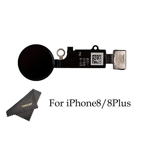 big sale 25855 56974 VANYUST Replacement Home Button Key Flex Cable Assembly with Rubber Ring  Compatible for iPhone 8 and 8 Plus (Black) + VANYUST Cloth