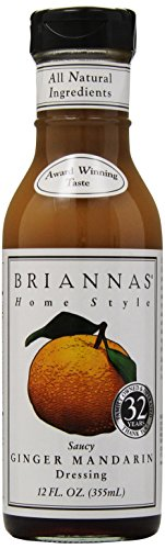 Brianna's, Home Style Dressing, Saucy Ginger Mandarin, 12 oz (Orange Ginger Vinaigrette Salad Dressing)