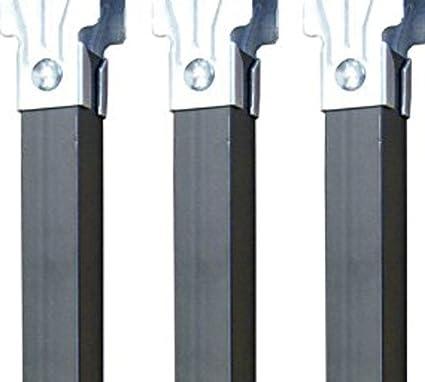 Imex El Zorro Juego 4 Patas somier sin Ruedas, Metal, Neutro, 350 x 30 x 30 mm