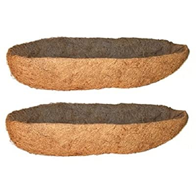 """Panacea Products 88598 30"""" x 7""""D, Wall Trough Planter Coco Liners - Quantity 2: Kitchen & Dining"""