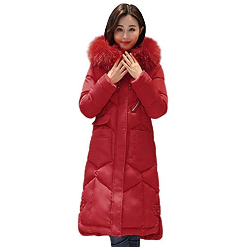 Femme Hiver Parka avec Capuchon Fourrure paissir Chaud Doudoune Manteau Longues De Bonne Qualit Fashion lgant Outdoor Loisir Manches Longues breal Slim Fit Chemine Stepp Doudoune Rouge