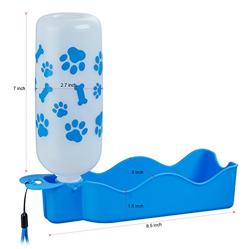 ANPETBEST Travel Water Bottle 650ML / 22oz Water Dispenser Portable Mug for Dogs,Cats and Other Small Animals (Blue-650ML) by ANPETBEST (Image #3)