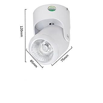 Nivel de focos LED COB tela de fondo universal pintar el salón-Lámpara de techo con luz 7W concentrant abierta Ming charg š Š de pantalla: Amazon.es: ...