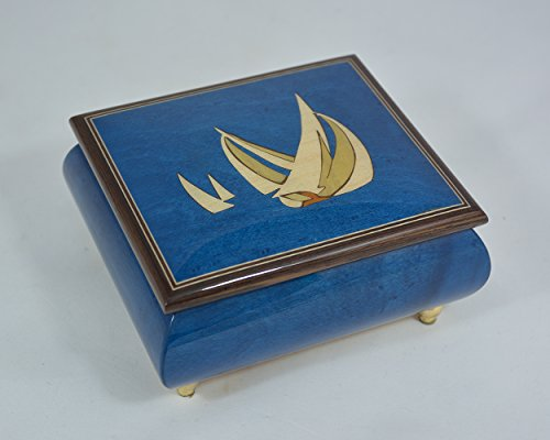 Sorrento Inlaid Music Box (Made in Italy Sorrento Inlaid Nautica Theme Music Box - Beauty and the Beast (Sankyo)
