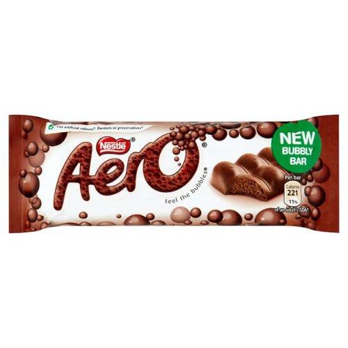 Aero Milk Bubbly Bar 40G Case Of 36