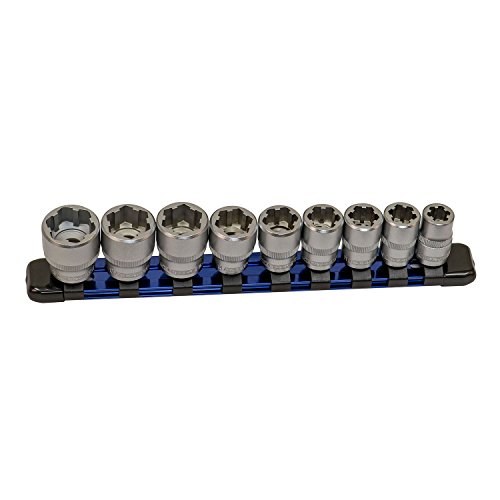 (OEMTOOLS 22967 9 Piece Nut Busting Bolt Extractor Socket Set - 3/8