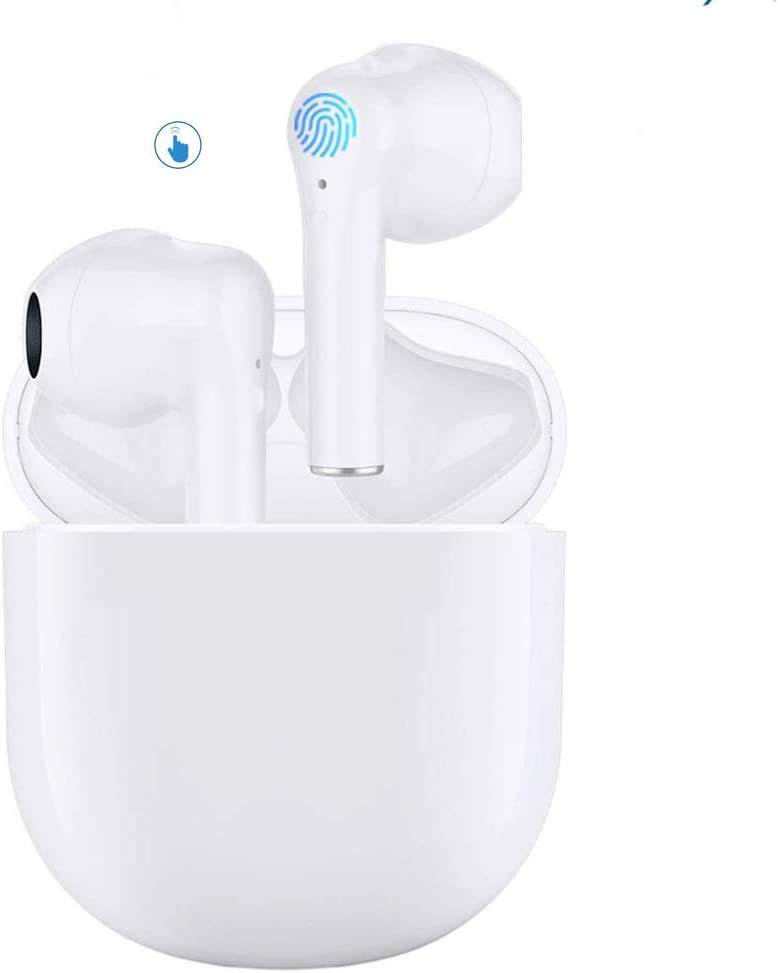 Bluetooth 5.0 Earbuds,in-Ear Micphone Headset with Charging Case,30H Playtime,Touch Control,IPX5 Waterproof,Pop-ups Auto Pairing for iPhone/Samsung/Android/Apple Airpods/Airbuds Sports Headphone
