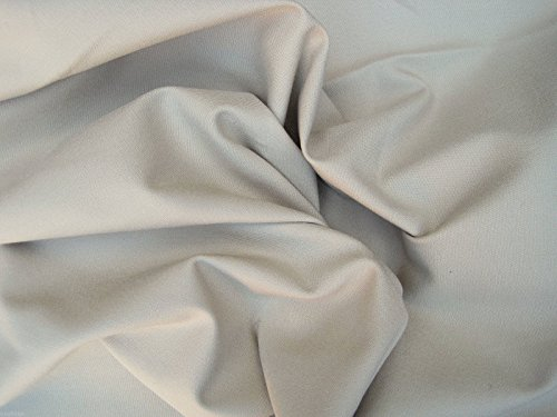 Stone Cotton Twill Spandex Fabric by the Yard 4 Way Stretch (Chino Material) Stone Stretch Twill