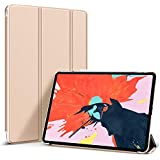 Oaky PU Leather and Polycarbonate Magnetic Attachment Slim Trifold Stand Smart Cover for iPad Pro 11-inch (Transparent Black)