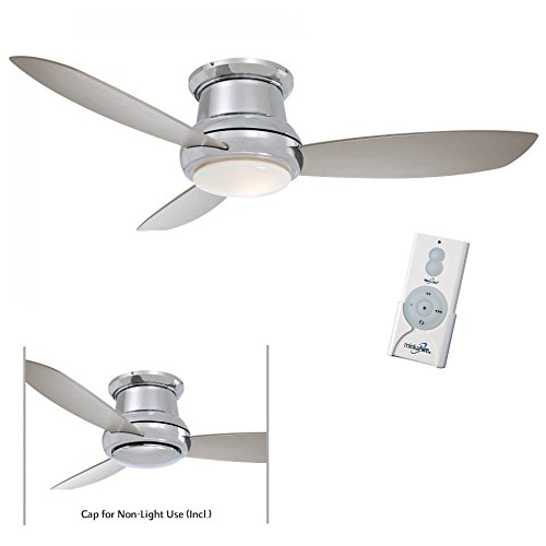minka-aire-f519-pn-concept-ii-52-flush-mount-ceiling-fan-with-light-remote-polished-nickel