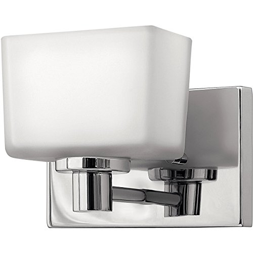 - Hinkley 5020CM Transitional One Light Bath from Taylor collection in Chrome, Pol. Nckl.finish,