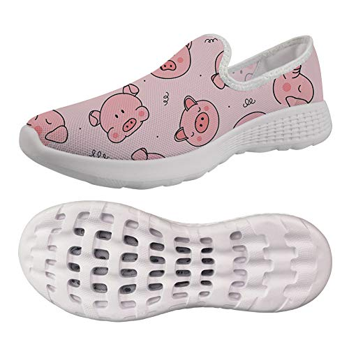 (chaqlin Women's Classic Summer Breathable Slip On Nursing Garden Clogs Shoes Beach Pink Pig Pattern Sandals Size 38 )