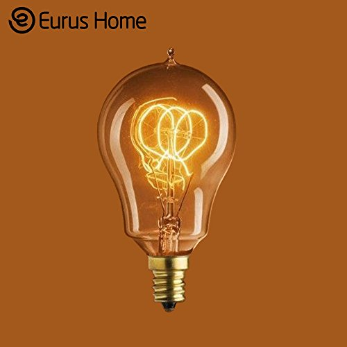 Loop Candelabra (Eurus 25 Watt Vintage Antique Light Bulb A15 E12 Edison Style - Candelabra Base - 3 Loop Hand-Wound Tungsten Filament (1 Pack))
