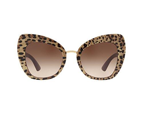 Dolce & Gabbana Women's Ortensia Cat Sunglasses, Leo/Brown, One Size