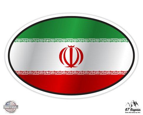 Iran Flag Oval - 5