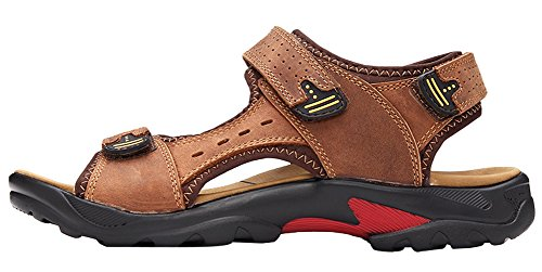 and Shallow Beach brown Loop AGOWOO Hook Mens Sandals Outdoor Sandles FnvwTvtW1q