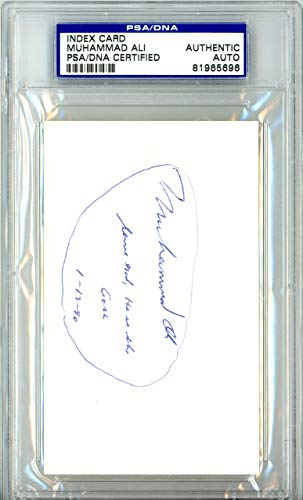 "Muhammad Ali Autographed 3x5 Index Card""Serve God He Is The Goal 1-13-90"" Vintage PSA/DNA #81965696"