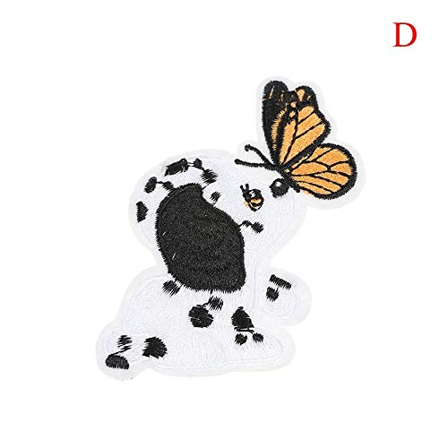 Patches - 1pcs Embroidered Iron On Clothes Applique Fabric Cute Dog Cat Mouse Patch Badge - Pict Mouse Ears Italy Cotton Patch Gamer Shower Flag Print Chain Costume Planet Fabric Curtain Colla -