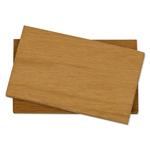 Fire & Flavor Natural Red Cedar Medium Grilling Planks, 3 x 5, Bulk Size 75 Count