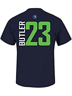 Mens Minnesota Timberwolves Jimmy Butler Majestic Navy Vertical Player Name & Number ...