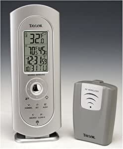 Taylor 1434 Digital Wireless Thermometer with Atomic Clock