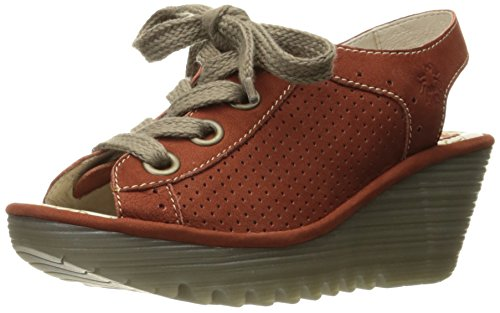 FLY London Womens Yuta617fly Platform Sandal Brick Cupido OmdZd2b