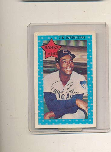 - 1971 Kelloggs card Ernie Banks corner crack