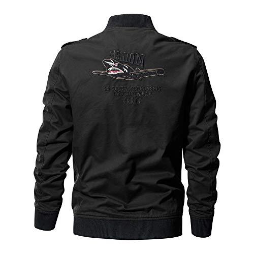 Bomber Printemps Jacket Voler Blousons Nouveaux Cotton Noir Lightweight Manteaux Veste Automne Osyard Coton Militaire Homme Mens poche Multi Outdoor A80wxwT
