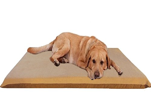 Cheap ehomegoods 47″X29″X4″ Beige Color Orthopedic Waterproof Memory Foam Pet Bed Pad for Extra Large dog crate size 48″X30″ with 2 external covers