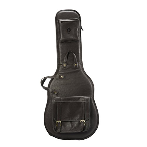 Levy's Leathers LM18-DBR Deluxe Leather Electric Guitar Bag, Dark Brown