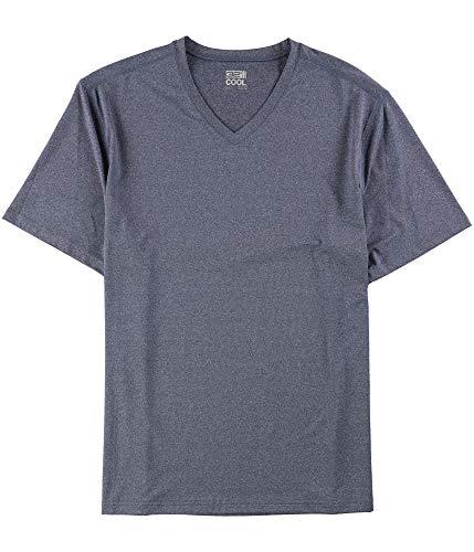 32 DEGREES Heather Mens V Neck Short Sleeve T-Shirt Blue XL