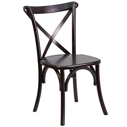 Flash Furniture HERCULES Series Walnut Wood Cross Back Chair