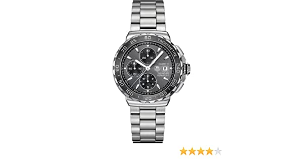 Amazon.com: Tag Heuer Formula 1 Grey Dial Stainless Steel Mens Watch CAU2010.BA0874: Tag Heuer: Watches