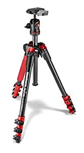 Manfrotto MKBFRA4R-BH BeFree Compact Aluminum Travel Tripod Red