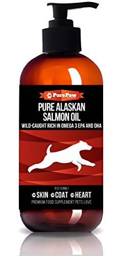 Pure Paw Nutrition Premium Organic Wild-Caught Pure Alaskan Salmon with Vitamins D3 Potassium B Complex & Antioxidants Best Holistic Home Remedy Fish Oil for Healthy Heart Skin & Coat Dogs