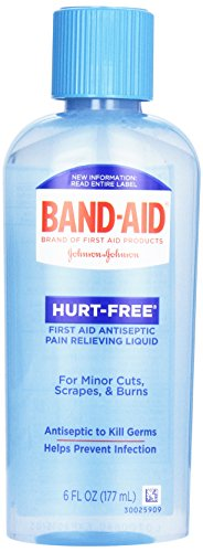 (Band-Aid Hurt Free Antiseptic Wash, 6 oz)