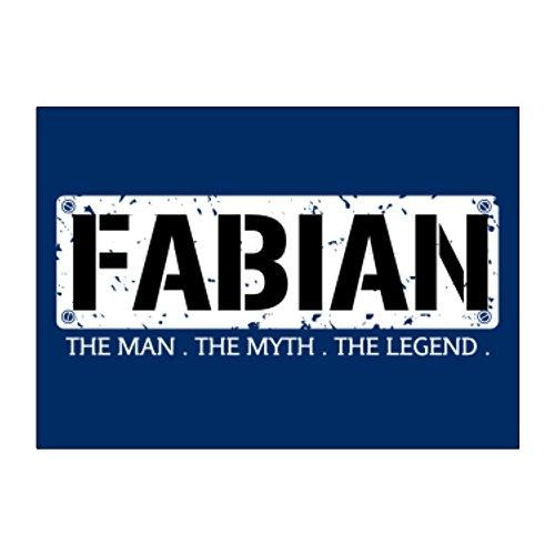 Teeburon Fabian THE MAN THE MYTH THE LEGEND Pack of 4 - Fabian 4