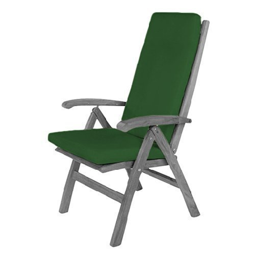 Green Water Resistant Highback Chair Pad ONLY Outdoor Dining Gardenista