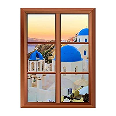 Removable Wall Sticker Wall Mural Beautiful Blue Dome...36