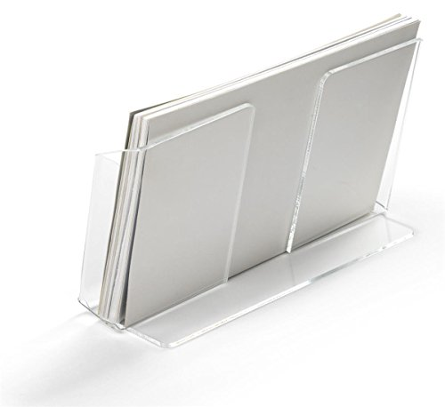 Displays2go Postcard Holders for Tabletop, Fits 6'' x 4'' Cards, Set of 20 - Clear (LHPCLAND) by Displays2go (Image #2)